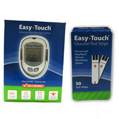 EasyTouch Glucose Monitor Kit Combo (Meter Kit and Test Strips 50ct) - Total Diabetes Supply