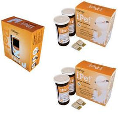 iPet Blood Glucose Meter Kit Combo (Meter Kit and Test Strips 100ct) - Total Diabetes Supply
