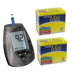 NovaMax Plus Glucose Meter Kit Combo (Meter Kit and Test Strips 100ct) - Total Diabetes Supply