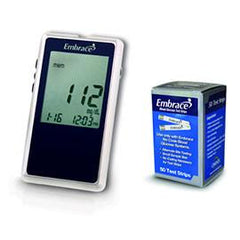Embrace Diabetes Meter Kit Combo (Meter Kit and 50ct Embrace Test Strips) - Total Diabetes Supply