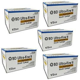 BD Ultra-Fine Insulin Syringes Short Needle 31g 1/2cc 5/16in 90/bx Case of 5 - (328290) - Total Diabetes Supply