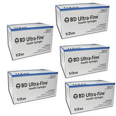 BD Ultra-Fine Insulin Syringes 30g 1/2cc 1/2in 90/bx - Case of 5 (328279)