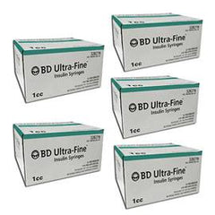 BD Ultra-Fine Insulin Syringes 30g 1cc 1/2in 90/bx Case of 5 - Total Diabetes Supply