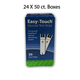 Case of 24  boxes of EasyTouch Glucose Test Strip - 50ct - Total Diabetes Supply