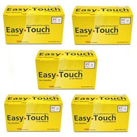 "EasyTouch Pen Needle - 31G 1/4"" - BX 100 - Case of 5 - Total Diabetes Supply"