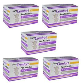 "SureComfort Mini Pen Needles - 31G 3/16""  - BX 100 - Case of 5 - Total Diabetes Supply"