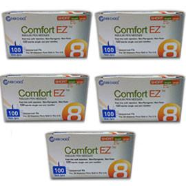 "Clever Choice Comfort EZ Pen Needles Short - 31G 8mm 5/16"" - BX 100 - Case of 5 - Total Diabetes Supply"