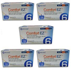 "Clever Choice Comfort EZ - 31G 6mm 1/4"" - BX 100 - Case of 5 - Total Diabetes Supply"
