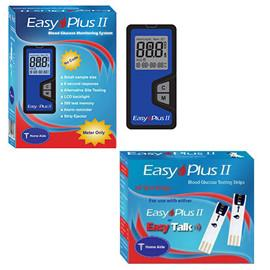 Easy Plus II Meter Kit Combo (Meter Kit and Test Strips 50ct) - Total Diabetes Supply