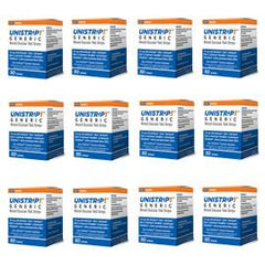 UniStrip Glucose Test Strips - 50ct - Compatible with ALL OneTouch Ultra Meters - 12/bx - Total Diabetes Supply