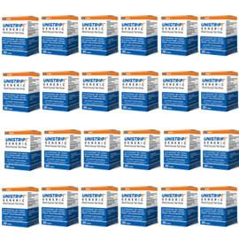 UniStrip Glucose Test Strips - 50ct - Compatible with ALL OneTouch Ultra Meters - 24/bx - Total Diabetes Supply