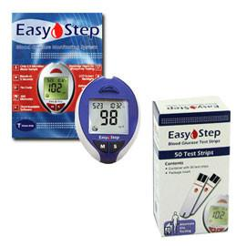 Easy Step Meter Kit Combo (Meter Kit and Test Strips 50ct) - Total Diabetes Supply