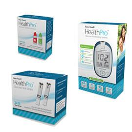 EasyTouch HealthPro Glucose Meter Kit Combo (Meter Kit, Test Strips 50ct and Control Solution) - Total Diabetes Supply