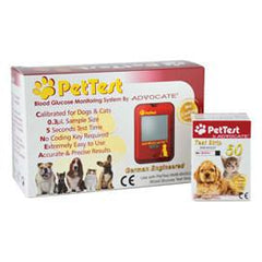 PetTest Meter Kit Combo (Meter and 50 Test Strips) - Total Diabetes Supply