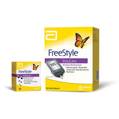 FreeStyle Insulinx Blood Glucose Monitoring Kit Combo (Freestyle Insulinx Meter Kit and 50 Strips)