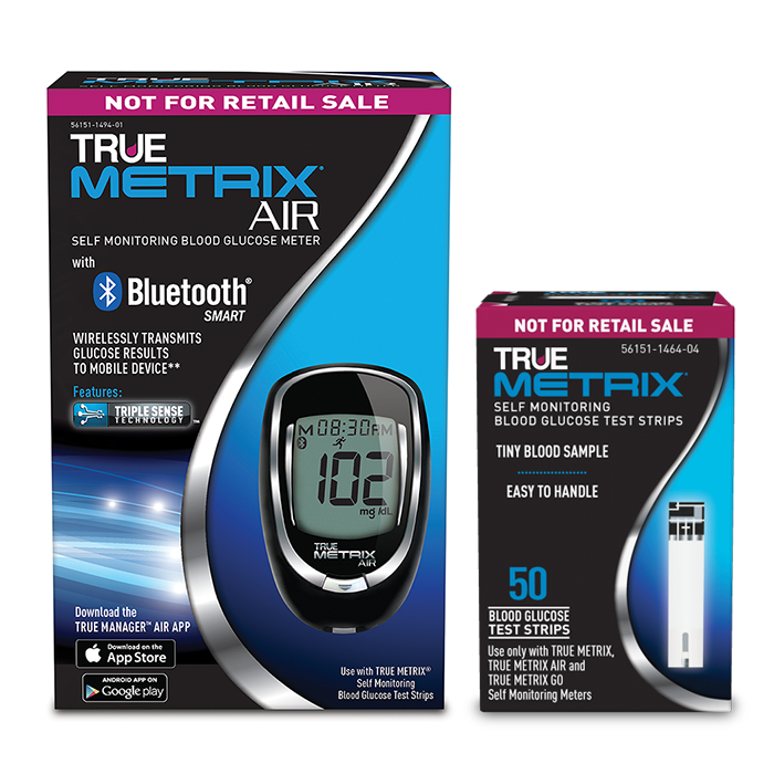 TRUE METRIX AIR Glucose Meter Kit Combo (Meter and 50 Test Strips)