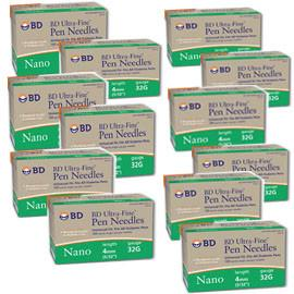 BD Ultra-Fine Nano Pen Needles 32g 4mm 90/bx Case of 12 - Total Diabetes Supply