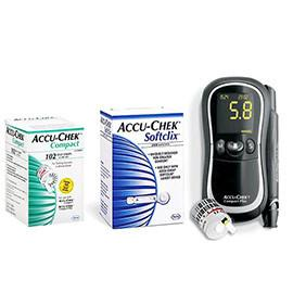 Accu-Chek Compact Plus Diabetes Monitoring Kit Combo (Meter Kit, Compact Test Strips 102ct and SoftClix Lancets 100ct) - Total Diabetes Supply
