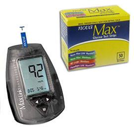 NovaMax Test Strips 50/bx with Meter Kit - Total Diabetes Supply