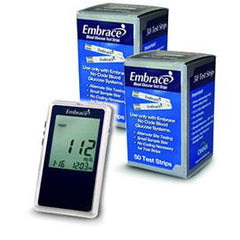 Embrace No-Code Talking Meter Kit w/100 Test Strips - Total Diabetes Supply
