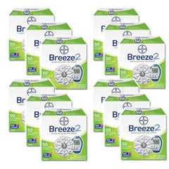 Bayer Breeze 2 Test Strips 50/bx Case of 12 - Total Diabetes Supply