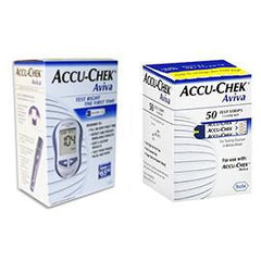 Accu-Chek Aviva Diabetes Monitoring Kit Combo (Meter Kit and Aviva Test Strips 50ct.) - Total Diabetes Supply
