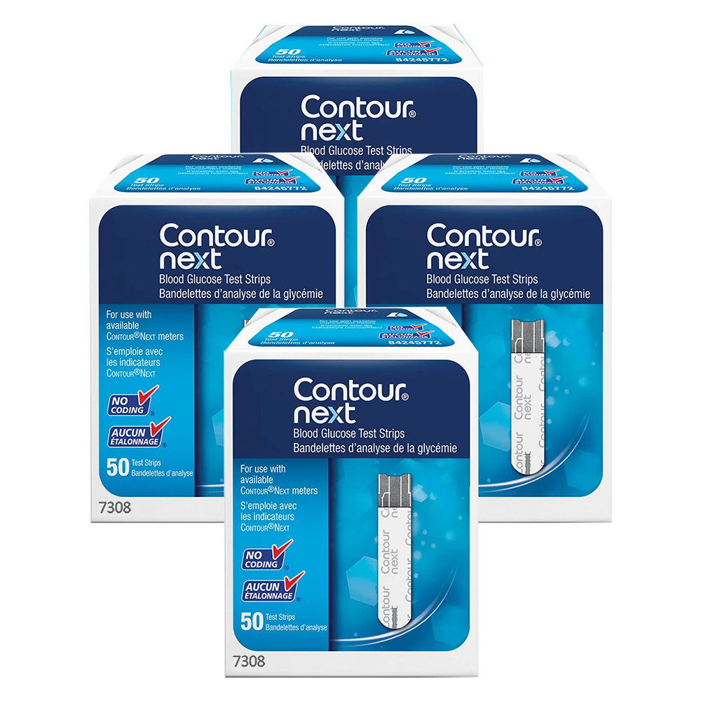 Bayer Contour Next Test Strips 50 ct. - Buy 3, Get One FREE (200 Strips)