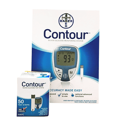 Bayer Contour Diabetes Monitoring Kit Combo (Meter Kit and Contour Test Strips 50ct.)