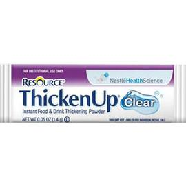 Nestle Resource Thickenup Clear Instant Food Thickener, 1-2/5g Stick Packs, Unflavored - Case of 288 - Total Diabetes Supply