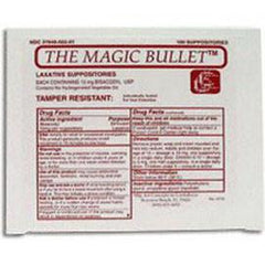 Concepts In Confidence Magic Bullet Suppository, Faster Acting, Safe - Box of 100 - Total Diabetes Supply