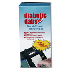 Diabetic Dabs® Blood Glucose Testing Wipes - 6/pack (300 sheets)