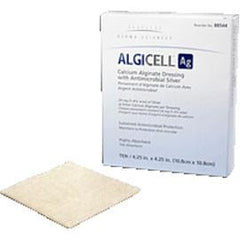 "Derma Algicell Ag Antimicrobial Silver Dressing 4"" x 8"", Latex-free (5 pcs. per box) - Total Diabetes Supply"