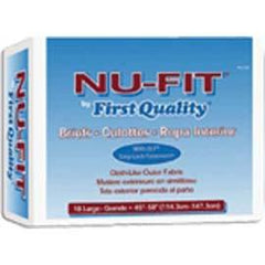"NU-Fit Adult Brief Large, 45"" to 58"" Waist, White - One pkg of 18 each - Total Diabetes Supply"