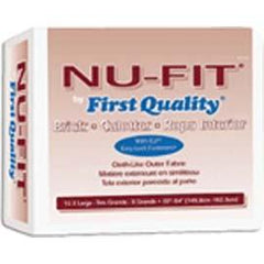 "NU-Fit Adult Brief, White, XL (59"" to 64"") - One pkg of 15 each - Total Diabetes Supply"