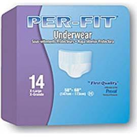 "Per-Fit Protective Underwear Large 44"" - 58"" -  One pkg of 18 each - Total Diabetes Supply"