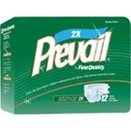 "Prevail Bariatric Adult Brief, Latex Free XXL (62"" to 73"") - One pkg of 12 each - Total Diabetes Supply"