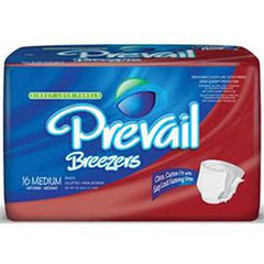 "Prevail Breezer Adult Brief Large 45-58"" Waist, Latex-free - One pkg of 18 each - Total Diabetes Supply"