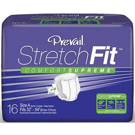 "Prevail Stretchfit Brief 49"" to 68"" - One pkg of 16 each - Total Diabetes Supply"