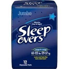 Sleep Overs Youth Pants, Large to XL (65 to 125 lb) - One pkg of 12 each - Total Diabetes Supply