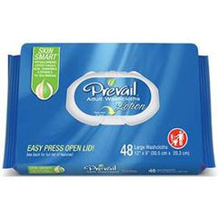 "Prevail Disposable Adult Washcloth with Press-n-Pull Lid 12"" x 8"" - One pkg of 48 each - Total Diabetes Supply"