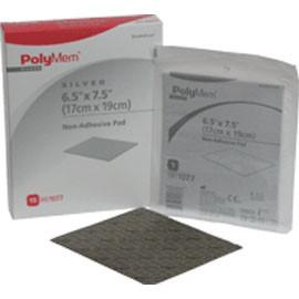 "Ferris Polymem Nonadhesive Pad Dressing with Nano-crystalline Silver 6-1/2"" x 7-1/2"", Nonadherent, High Integrity, Thin Film Backing (15 pcs. per box) - Total Diabetes Supply"