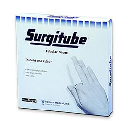 "Derma Surgitube Tubular Gauze Bandage 5/8"" x 5 yds Size 1, Latex-free, White, for Small Fingers, Toes, for Use without Applicator, 1 dozen - Total Diabetes Supply"