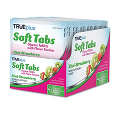 TRUEplus Glucose Tablets - Kiwi Strawberry, Tray of 12 (48 ct.)