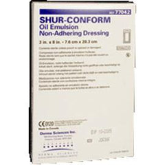 "Derma Science Products Shur-Conform Oil Emulsion impregnated dressings 3"" x 8"", Sterile, Non-adherent (36 pcs. per box) - Total Diabetes Supply"