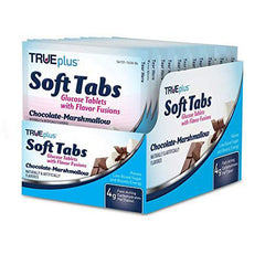 TRUEplus Glucose Tablets - Chocolate Marshmallow, Tray of 12 (48 ct.)