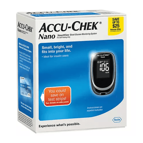 Accu-Chek Nano Glucose Meter Kit, Includes $25 REBATE