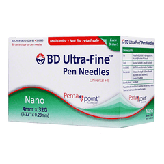 BD Nano Ultra Fine Pen Needles - 32G 4mm - BX 90