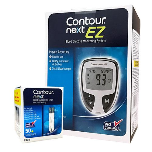 Bayer Contour Next EZ Meter Kit Combo (Meter Kit and 50 Strips)