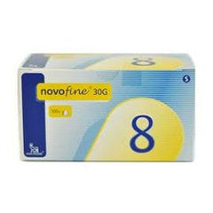 NovoFine Pen Needle - 30G X 8mm - BX 100 - Total Diabetes Supply