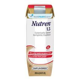 Nestle Nutren® 1.5 Complete High-Calorie Liquid Nutrition Unflavored 8oz/250mL - One each